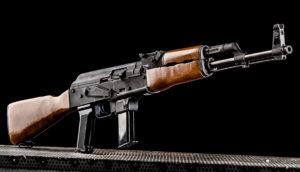 Lövészet Kalashnikov AK 9 típusú fegyverrel